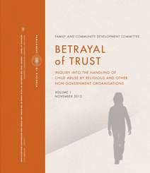 Cover of the Betrayal of Trust report