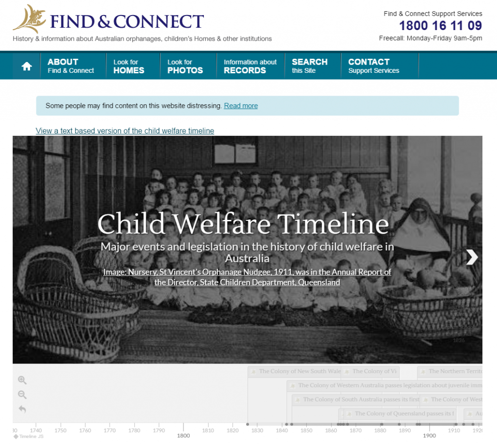 Interactive Child Welfare Timeline