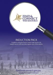 Front page of the Induction Pack
