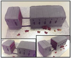 This compactus cake is the work of archivist and cakemaker, Kirsten Wright.