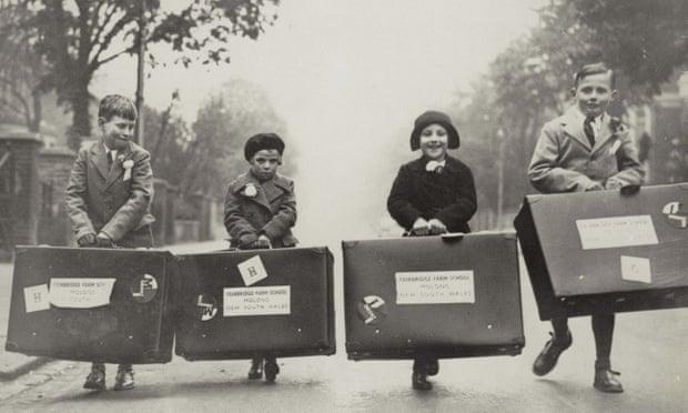 Children arriving at the Fairbridge farm school, Molong, Australia