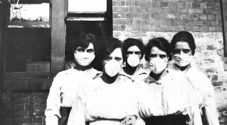 Women-wearing-surgical-masks-during-influenza-epidemic-Brisbane-1919